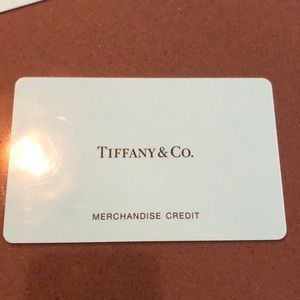 Merchandise credit to Tiffany & co